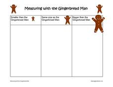Measuring With the Gingerbread Man Worksheet
