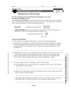 28+ [ Mechanical Advantage And Efficiency Worksheet ] | icp ...