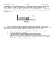 Mechanics Worksheet