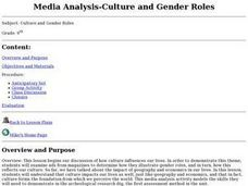 Media Analysis--Culture and Gender Roles Lesson Plan