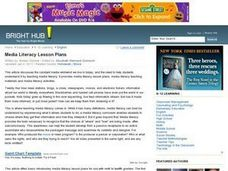 Media Literacy Lesson Plans Lesson Plan