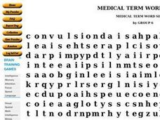 Medical Term Word Search Worksheet