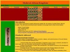 Medieval African Kingdoms Lesson Plan