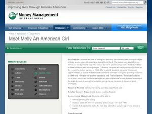 Meet Molly, An American Girl Lesson Plan