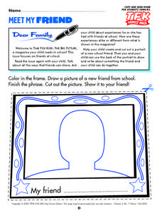 Meet My Friend- Family Page- Time for Kids Lesson Plan