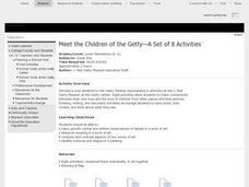 Meet the Children of the Getty:  A Set of 8 Activities Lesson Plan