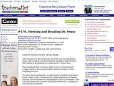 Meeting and Reading Dr. Seuss Lesson Plan