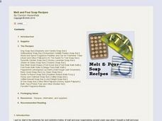 Melt and Pour Soap Recipes Lesson Plan
