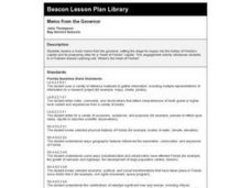 Memo from the Governor Lesson Plan