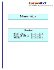 Mensuration: Area Lesson Plan