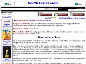 Mental Health Scenarios Lesson Plan