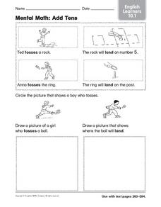 Mental Math: Add Tens English Learners 10.1 Worksheet