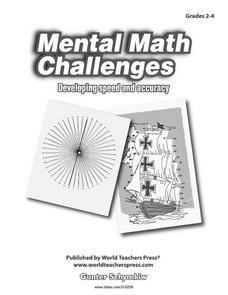 Mental Math Challenges: Developing Speed and Accuracy Worksheet