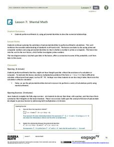 Mental Math Lesson Plan