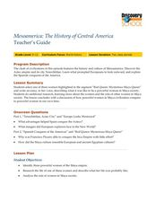 Mesoamerica: The History of Central America Lesson Plan