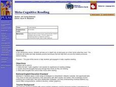 Meta-Cognitive Reading Lesson Plan
