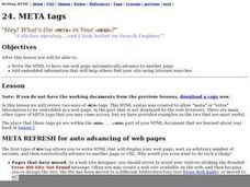 META tags Lesson Plan