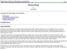 Meteorology Lesson Plan