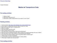 Methods of Transport in Cuba Lesson Plan