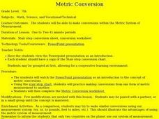 Metric Conversion Lesson Plan