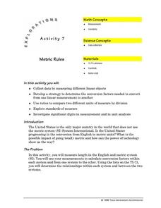 Metric Rules Lesson Plan