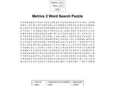 Metrics 2 Word Search Worksheet