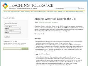 Mexican American Labor in the U.S. Lesson Plan