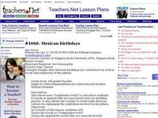 Mexican birthdays Lesson Plan