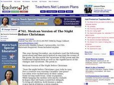 Mexican Version of The Night Before Christmas (Middle, Language) Lesson Plan
