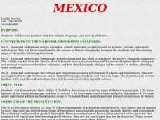 Mexico: Culture, Language, and History Lesson Plan