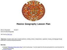 Mexico Geography Lesson Plan