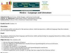 Mexico - Language and Literature Lesson Plan