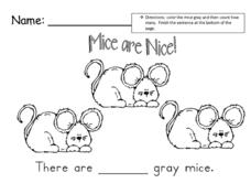 Mice are Nice! Worksheet
