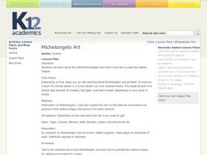 Michelangelo Art Lesson Plan