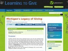 Michigan's Legacy of Giving Lesson Plan