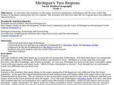 Michigan's Two Regions Lesson Plan