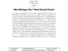 MicroBiology Chp 1 Worksheet