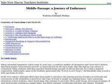 Middle Passage: a Journey of Endurance Lesson Plan