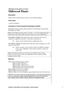 Milkweed Plants Lesson Plan