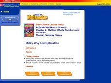 Milky Way Multiplication Lesson Plan