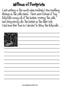 Millions of Footprints Worksheet
