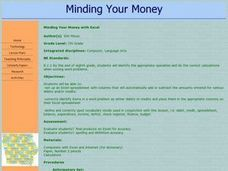 Minding Your Money Lesson Plan