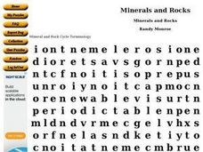 Minerals and Rocks Worksheet