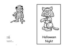 Mini Book: Halloween Night Worksheet