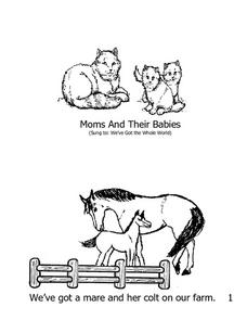Mini Book: Moms And Their Babies Worksheet