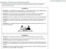 Mini-dramas Worksheet