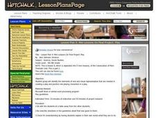 Mini-Lessons On Final Project: Play Lesson Plan