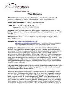 Mini Olympics Lesson Plan