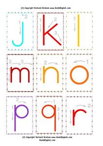 Mini Phonics Arrows: j-r Worksheet