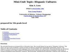 Mini-Unit Topic: Hispanic Cultures Lesson Plan